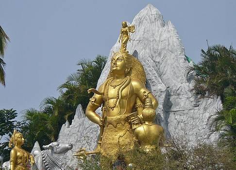 Lord Shiva in Gold by Sandeep Gangadharan
