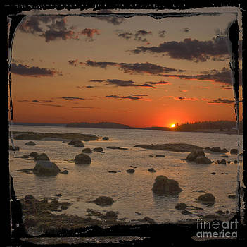 Maine sunset by Jim Wright
