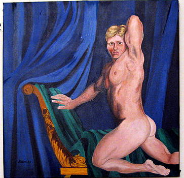 Male nude by John Sowley