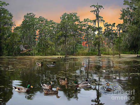 Mallards in the Swamp by Linda Gleason Ritchie