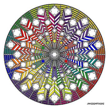 Mandala drawing 38 by Jim Gogarty