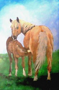 Mare and Foal by Jennifer Jeffris