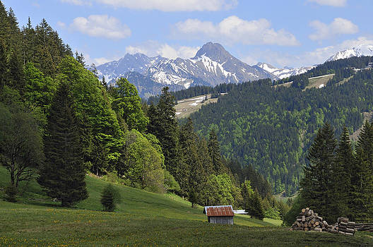 Mountain landscape in the alps by Matthias Hauser