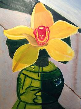 Orchid Cymbidium by Jennifer Woodworth