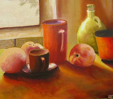 Pitcher and Peaches by Selma Suliaman