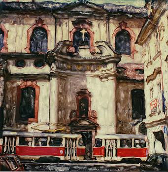 Prague Trolley-2 by Rod Huling