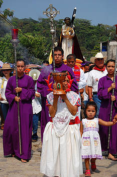 Procession of Silence Cuetzalan Mexico by George Olney