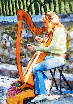 Quebec Harpist by Jill Balsam