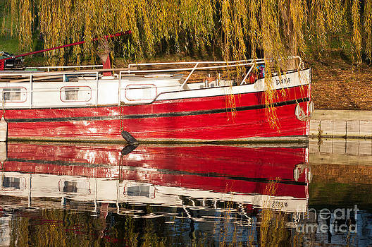Red boat by Andrew  Michael