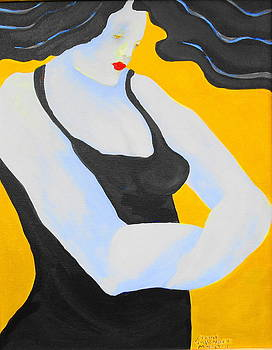 Red Lipstick by Claire Sallenger Martin