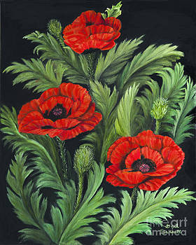 Red Poppies by Gail Darnell