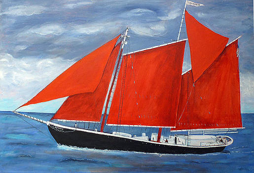 Red Sails by Patricia Hooks