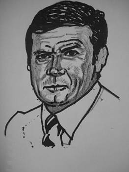 Roger Moore Sketch by Jeremiah Cook