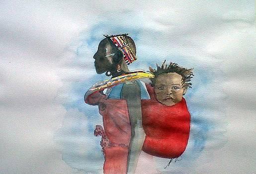 Samburu Tribe III. by Paula Steffensen