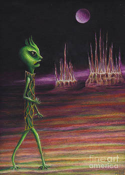 Sand Alien by Michelle Cavanaugh-Wilson