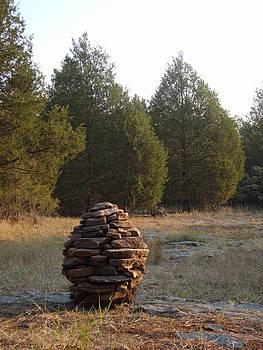 Adam Long - Sandstone Cairn nature art Sculpture