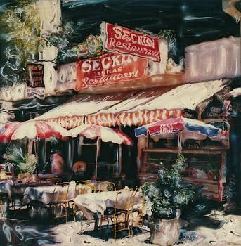 Selcuk Cafe  Turkey by Rod Huling