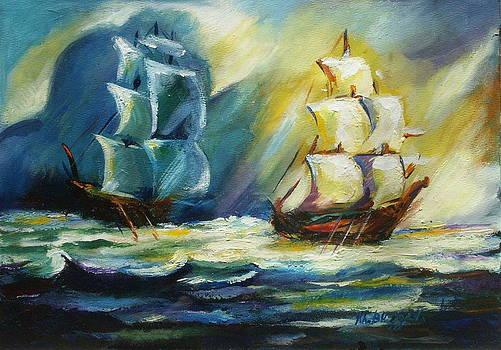 Ships at Sea by Khatuna Buzzell