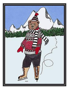 Skating Bear by Marla Saville
