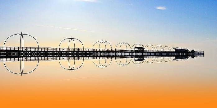 David French - Southport Pier reflections