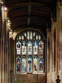 St Mary's Church at Fairford in Gloucestershire by Nick Temple-Fry