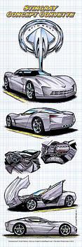 Stingray Concept Corvette by K Scott Teeters