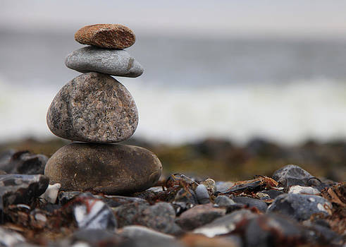 Stones at the sea by Falko Follert