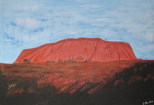 Sunset at Ayers Rock by Darrell Marks