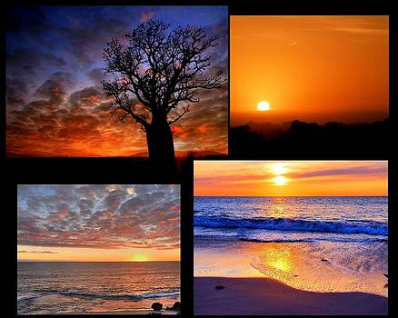 Sunset Collage by Imagevixen Photography