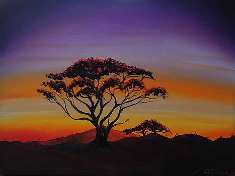 Sunset Of The Serengeti  by Portland Art Creations