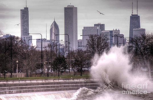 Surf's up in Chicago 2 by Jim Wright