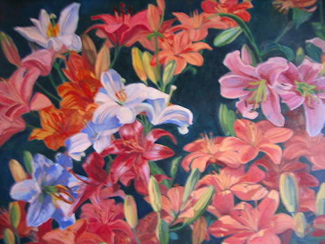 Symphony of Lilies by D Marie LaMar