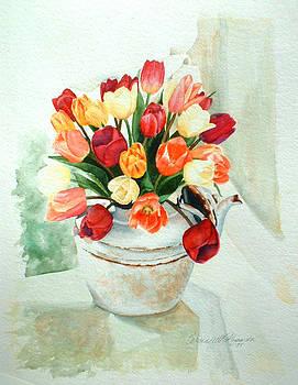 Tea for Tulips by Bernadette Kazmarski
