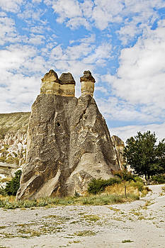 Kantilal Patel - Three majestic limestone fairy chimneys
