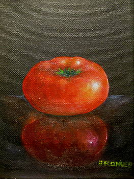 Tomato with Reflection  by Jim  Romeo