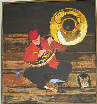 Tuba Player by John Sowley