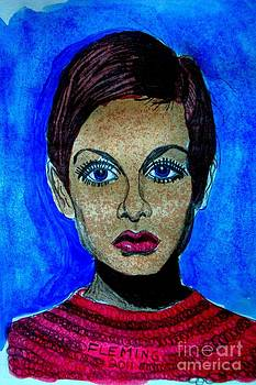 Twiggy In Blue by Timothy Fleming