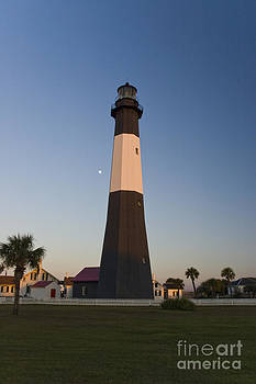 Tim Mulina - Tybee Island Lighthouse and Moon