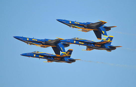U.S. Navy Blue Angels by Eleu  Tabares