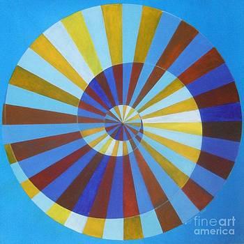 Vasarely's Spiral by Sonja Gartner