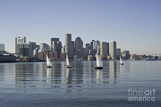 View of Boston Skyline from Boston Harbor by Darwin Lopez