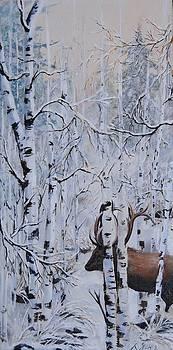 Winter ELk by Anne Marie Spears