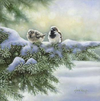 Winter Sparrows by Gerri Buteyn