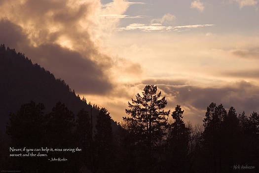 Mick Anderson - Winter Sunset over Grants Pass