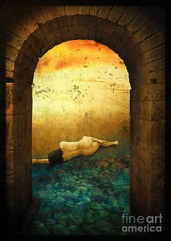 Woman in gate by Pavlos Vlachos