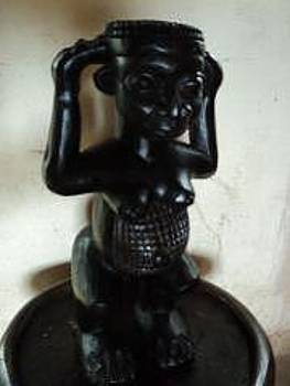 Wood Sculpture by Ngwanyam Adolf Loraterr