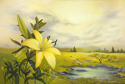 Yellow Lily by Lloyd Thibodeau