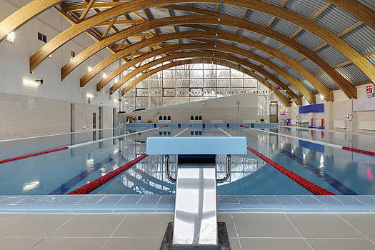 Swimming Pool In Moscow Russia by Magomed Magomedagaev