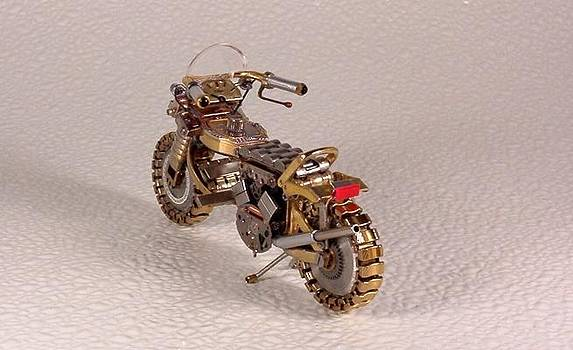 Motorcycles out of watch parts by Dmitriy Khristenko