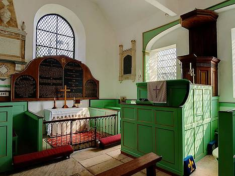 18'th Century Church Interior at Didmarton St Lawrence by Nick Temple-Fry